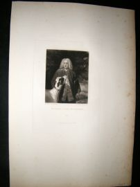 After Joshua Reynolds C1830 Folio Mezzotint. Richard Lord Edgecumbe